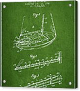 Sailboat Patent From 1996 - Green Acrylic Print