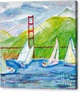Sailboat Race At The Golden Gate Acrylic Print