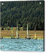 Sailboat Regatta Cascade Lake Acrylic Print