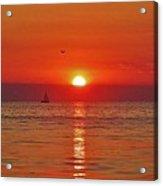 Sailboat Sunset Pamlico Sound 3 10/2 Acrylic Print