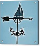 Sailboat Weathervane Acrylic Print