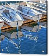 Sailboats And Dock Acrylic Print by Cliff Wassmann