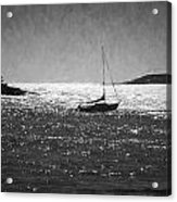 Sailboat And Islands In Maine Acrylic Print