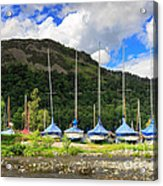 Sailboats At Glenridding In The Lake District Acrylic Print