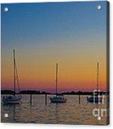 Sailboats At Sunset Clinton Connecticut Acrylic Print