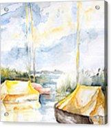 Sailboats Awakening Acrylic Print