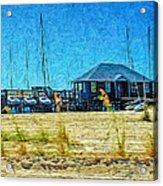 Sailboats Boat Harbor - Quiet Day At The Harbor Acrylic Print