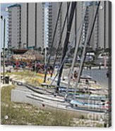 Sailboats For Playtime Acrylic Print