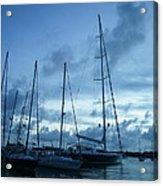 Sailboats in Blue Acrylic Print
