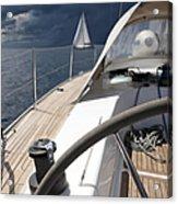 Sailboats In Mediterranean Sea Acrylic Print