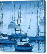 Sailboats In The Fog II Acrylic Print
