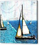 Sailboats In The Harbor Acrylic Print