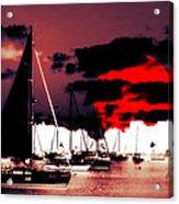 Sailboats In The Marina Surreal 2 Acrylic Print