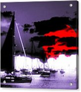 Sailboats In The Marina Surreal 3 Acrylic Print