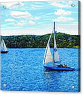 Sailboats In The Summer Acrylic Print