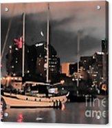 Sailboats Sleep Acrylic Print