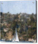 Sailing Along The Shore Acrylic Print