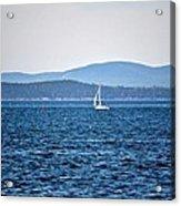Sailing Amidst The Buoys Acrylic Print