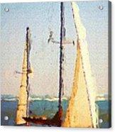 Sailing At Daytona Acrylic Print