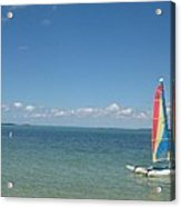 Sailing  At Key Largo Acrylic Print