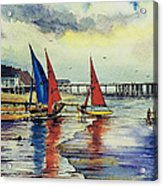 Sailing At Penarth Acrylic Print