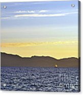 Sailing At Sunset - Lake Tahoe Acrylic Print