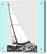 Sailing Freedom On A Reach Acrylic Print