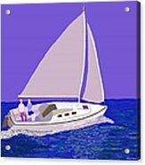 Sailing Blue Ocean Acrylic Print