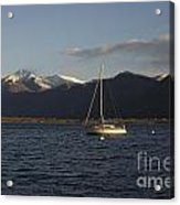 Sailing Boat On An Alpine Lake Acrylic Print