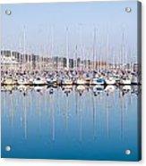 Sailing Boats In The Howth Marina Acrylic Print