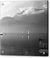 Sailing Boats On Como Lake Acrylic Print