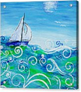 Sailing By Jan Marvin Acrylic Print