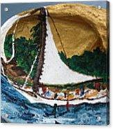 Sailing Forest Sea Acrylic Print