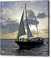 Sailing In Aruba Acrylic Print