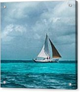 Sailing In Blue Belize Acrylic Print