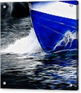 Sailing In Blue Acrylic Print