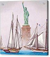 Sailing In Good Company Acrylic Print
