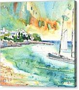 Sailing In Saint Martin Acrylic Print