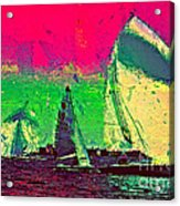 Sailing In Shimmer Acrylic Print
