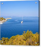 Sailing In The Adriatic Acrylic Print