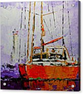 Sailing In The Mist Acrylic Print by Vickie Warner