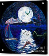 Sailing In The Moonlight Acrylic Print