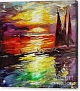 Sailing In The Sunset Acrylic Print