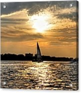 Sailing Into The Sunset Acrylic Print