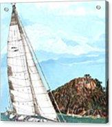 Bay Of Islands Sailing Sailing Acrylic Print