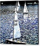 Sailing On Blue Acrylic Print