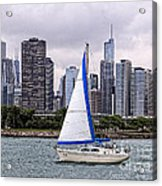 Sailing On Lake Michigan Acrylic Print