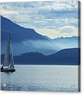 Sailing On Lake Zug Acrylic Print by Ron Sumners