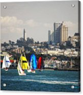 Sailing On The Bay Acrylic Print