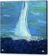 Sailing On The Blue Acrylic Print